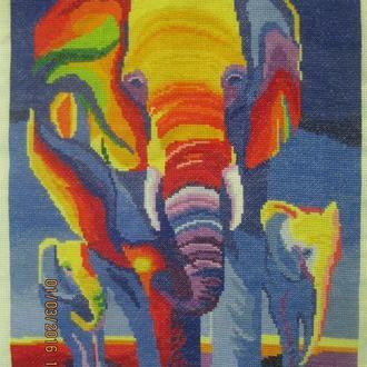 """Вышитая картина """"Африканский авангард"""""""