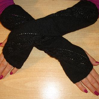Митенки - перчатки без пальцев - Изящество рук