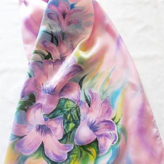 Эксклюзив! Шарф ручной росписи, выполненной в технике батик