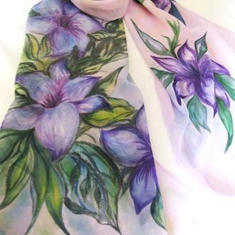Эксклюзив! Шарф ручной росписи, выполненной в технике батик профессиональными красками.