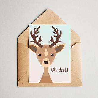 "Открытка ""Oh Deer"""