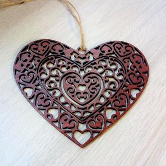 Резное сердечко ко Дню Святого Валентина