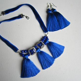 Комплект с синими кистями