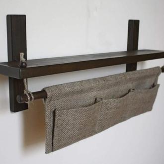 Полка для ванной комнаты с органайзером
