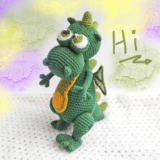 Вязаный дракончик амигуруми