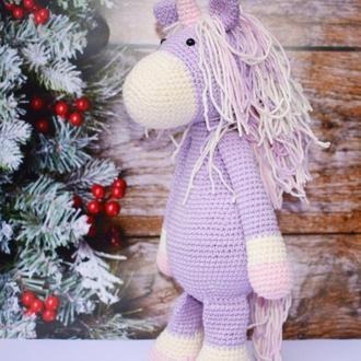 Единорог вязаная игрушка Подарок для ребенка Интерьерная игрушка