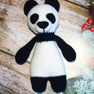 Панда-символ дружбы! Вязаная игрушка Интерьерная игрушка Подарок ребенку
