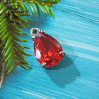 Алая подвеска- стеклянный страз красивая огранка-  подвеска для украшений