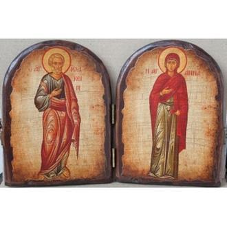 """Складень """"Святые праведные Иоаким и Анна"""""""