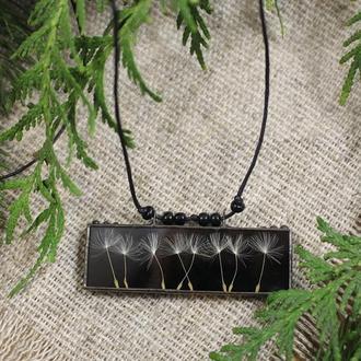 Подвеска гербарий одуванчики Подарок девушке