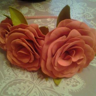 Обруч Розовая дымка