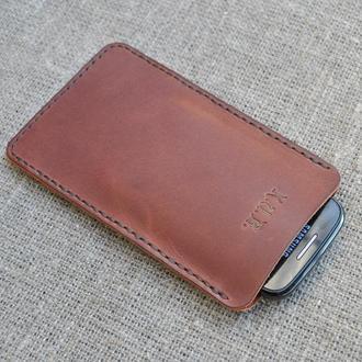 Чехол-карман из натуральной кожи для смартфона H08-210