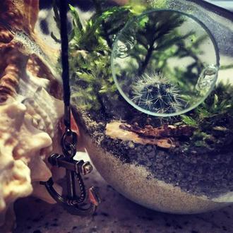 Террариум и аквариум в лампочке ручной работы.