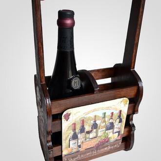Короб-подставка для шампанского или вина