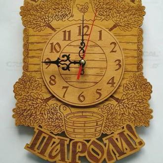"""Дизайнерские часы в баню """"С легким паром"""""""