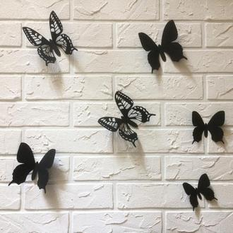 Марфа, бабочки из картона на стену 3Д, 50 шт.