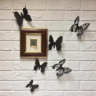 Марфа, бабочки из картона на стену 3Д, 25 шт.