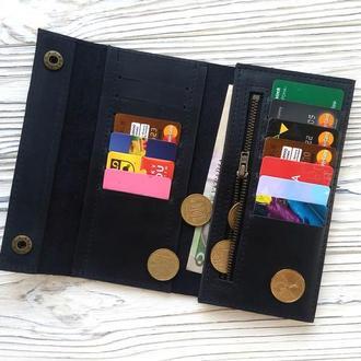 Бумажники мужские кожаные, черный кошелек мужской купить, оригинальные подарки для мужчин Kozhemyaka