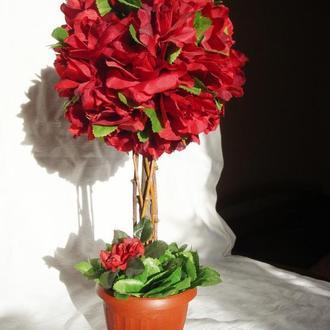 Цветочный топиарий «Букет роз»