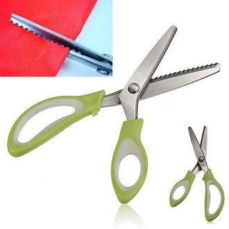 Ножницы зиг-заг прорезиненая ручка