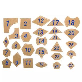Оригинальные удобные шаблоны для пэчворка и аппликаций лекало Набор 54 детали