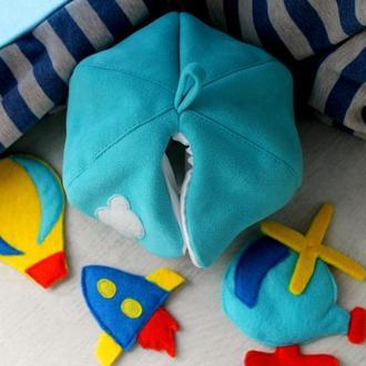 Іграшка-сортер літаючий транспорт:ракета,повітряна куля,гвинтокрил