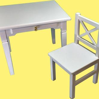 Детский стол и стульчик (спинка крестик)