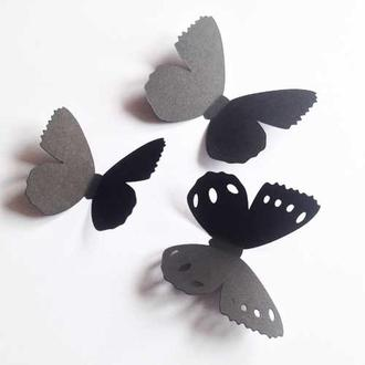 Бабочка объемная для декора стен Бантик, 3д