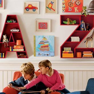 полки для книг и игрушек