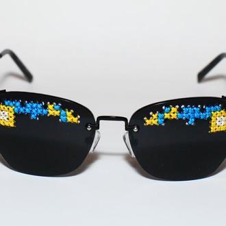Окуляри-вишиванка сонцезахисні жовто-блакитні