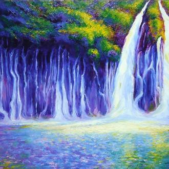 """Водопад"" картина маслом"