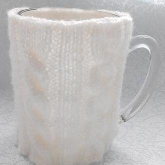 Вязаный чехол на чашку