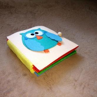 Развивающая книжка из фетра(Quiet book,Montessori book)