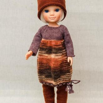 Одежда на куклу Nenсy Famosa (Ненси Фамоса).  Коричневый меланж.