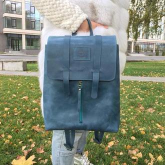 """Женский кожаный рюкзак """"Кит"""", Городской рюкзак для ноутбука"""