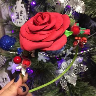 Обруч с цветами из фоамирана