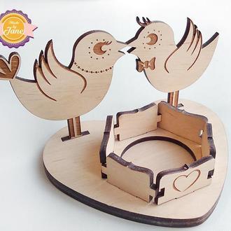 Подсвечник Влюбленные птички