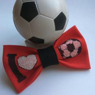 """Галстук-бабочка """"Я люблю футбол"""""""