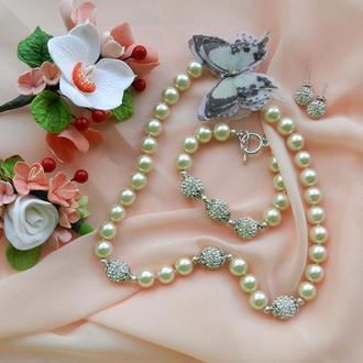 Свадебный комплект украшений
