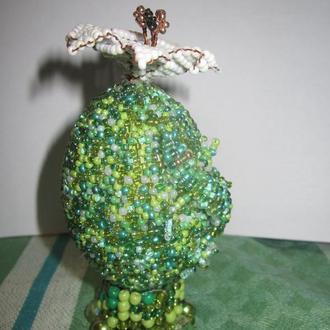 """Декоративное пасхальное яйцо """"Каменный цветок!"""