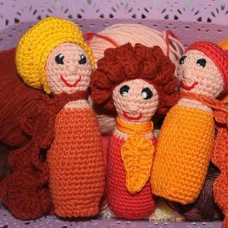 Пальчиковые куклы Шишка, Гриб и Желудь