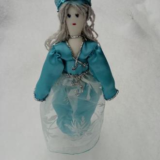 """Кукла """"Снежная королева"""" в стиле тильда, текстильная, интерьерная"""