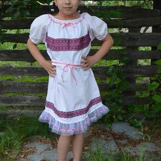 Платье для девочки в национальном украинском стиле