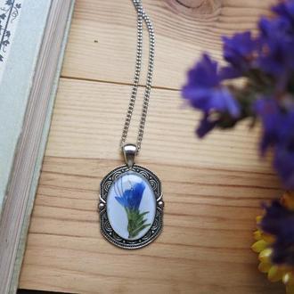Нежный цветок в вашей подвеске на шею кулон / эпоксидная ювелирная смола