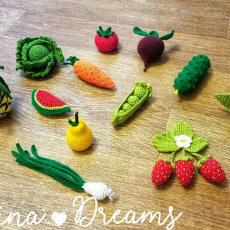 Овощи и фрукты вязанные крючком