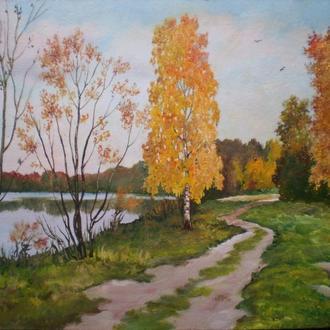 """Картина """"Осінь на річці Турії"""""""