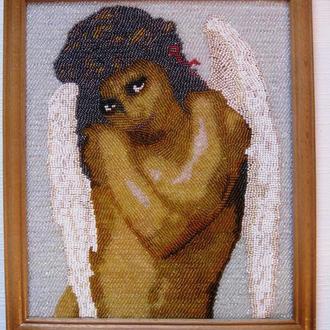 """Картина вышитая бисером """"Ангел"""""""