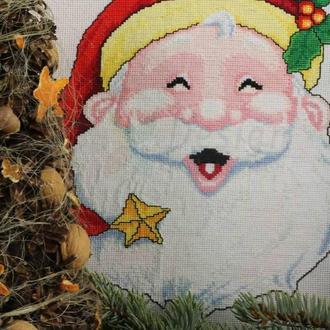 """Cхема для вышивания крестиком """"Санта Клаус"""""""