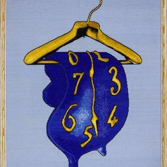 """Схема для вышивания крестиком """"Время"""""""