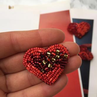 Брошь «Маленькое сердце» на День Св. Валентина